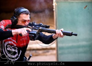 With the DAR-15 IPSC Advanced rifle at the nationals 2017